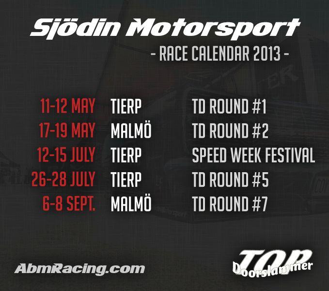 Race calendar 2013